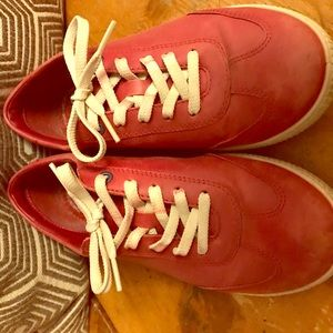 Ecco Red leather walking shoes/sneakers